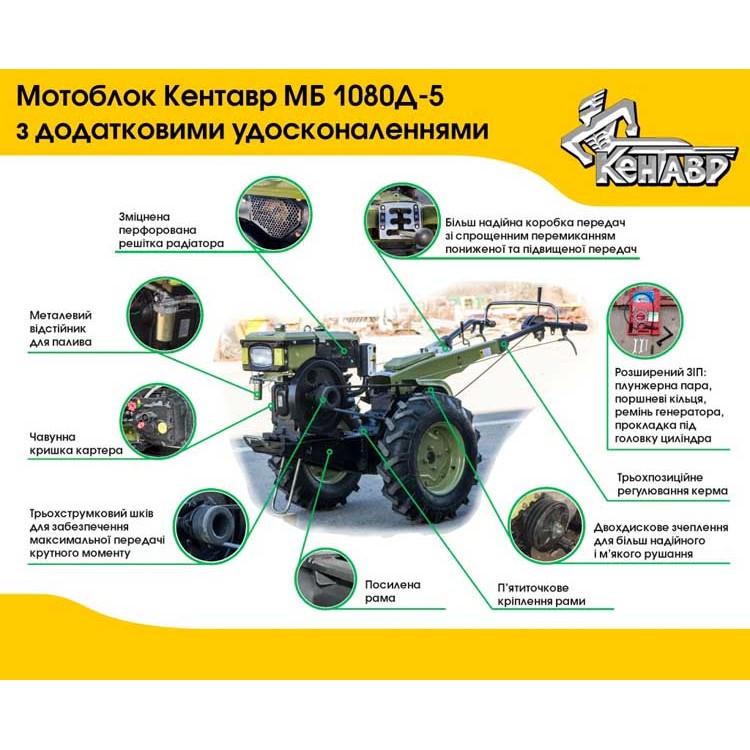 Мотоблок МБ 1081Д КЕНТАВР